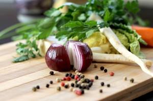 légumes planche à découper